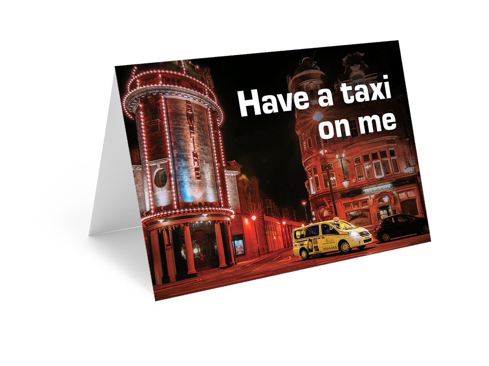 Have a Taxi On Us Gift Card